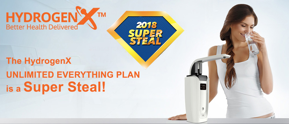 The HydrogenX UNLIMITED EVERYTHING PLAN is a Super Steal!